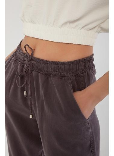 Fashion Friends Yüksek Bel Havuç Pantolon  Gri